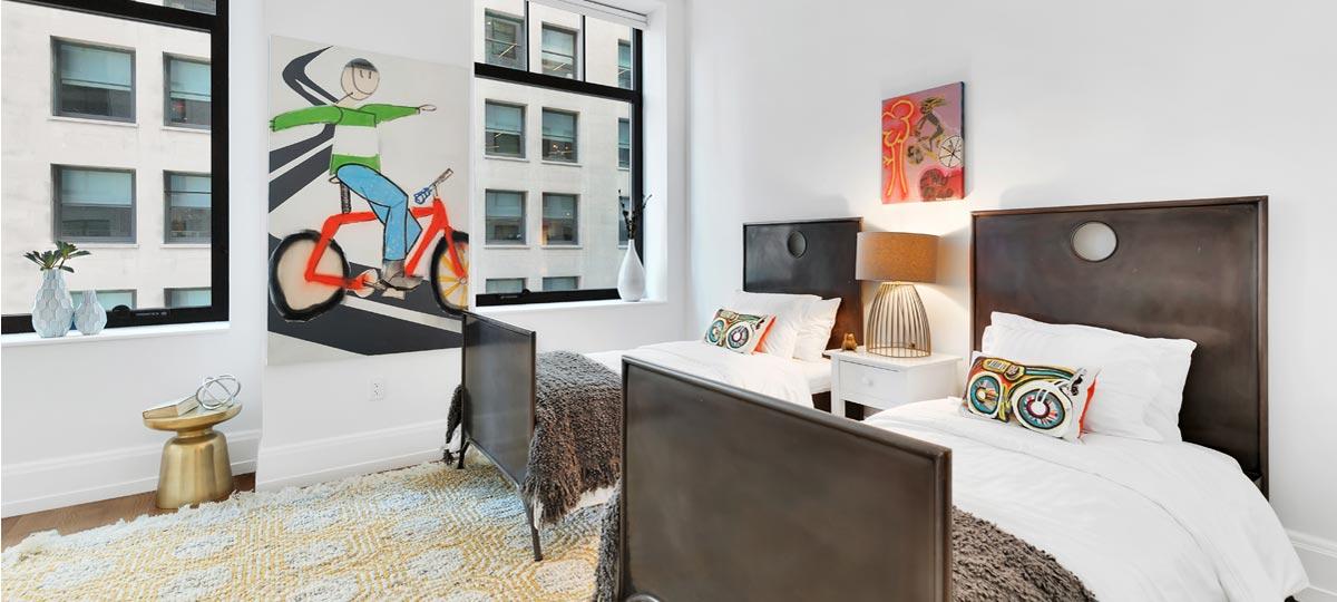 10 Madison Square West New York Bedroom