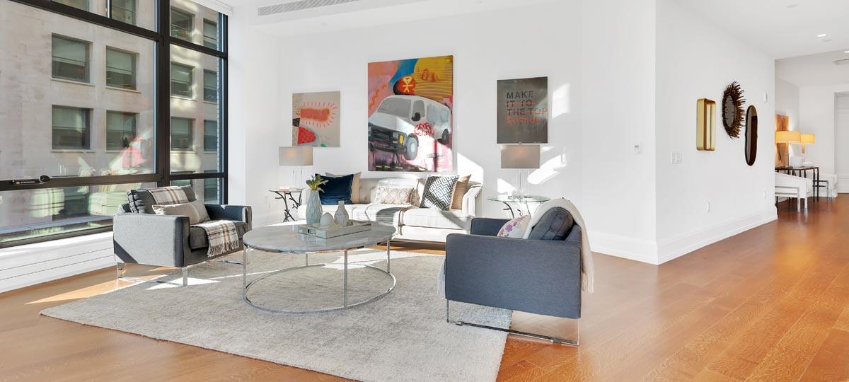 10 Madison Square West New York Living Room