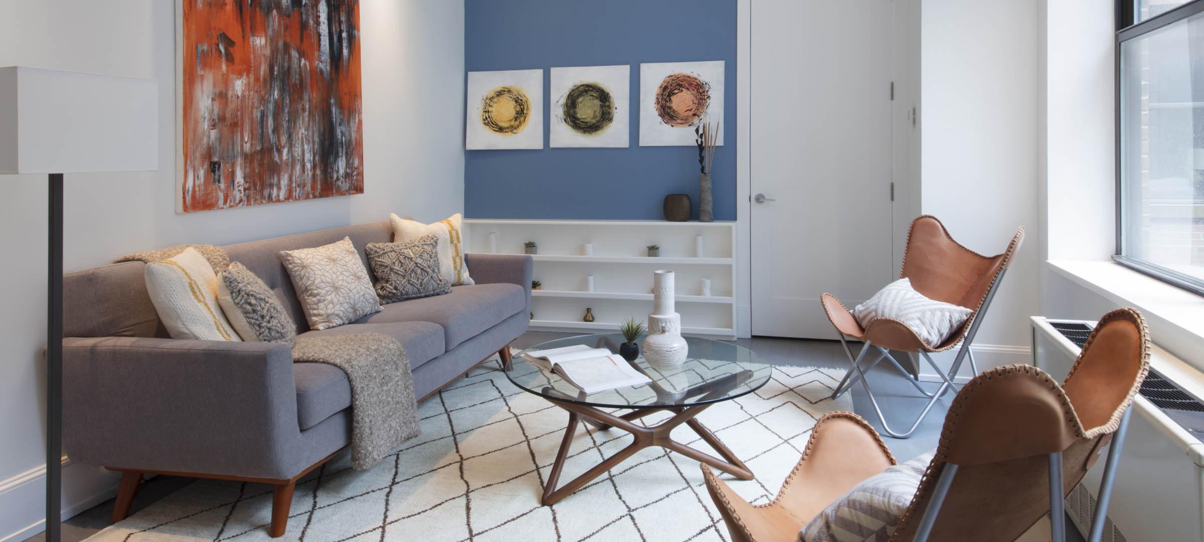 SBSG Interior Design Den 260 Park Avenue South, NY