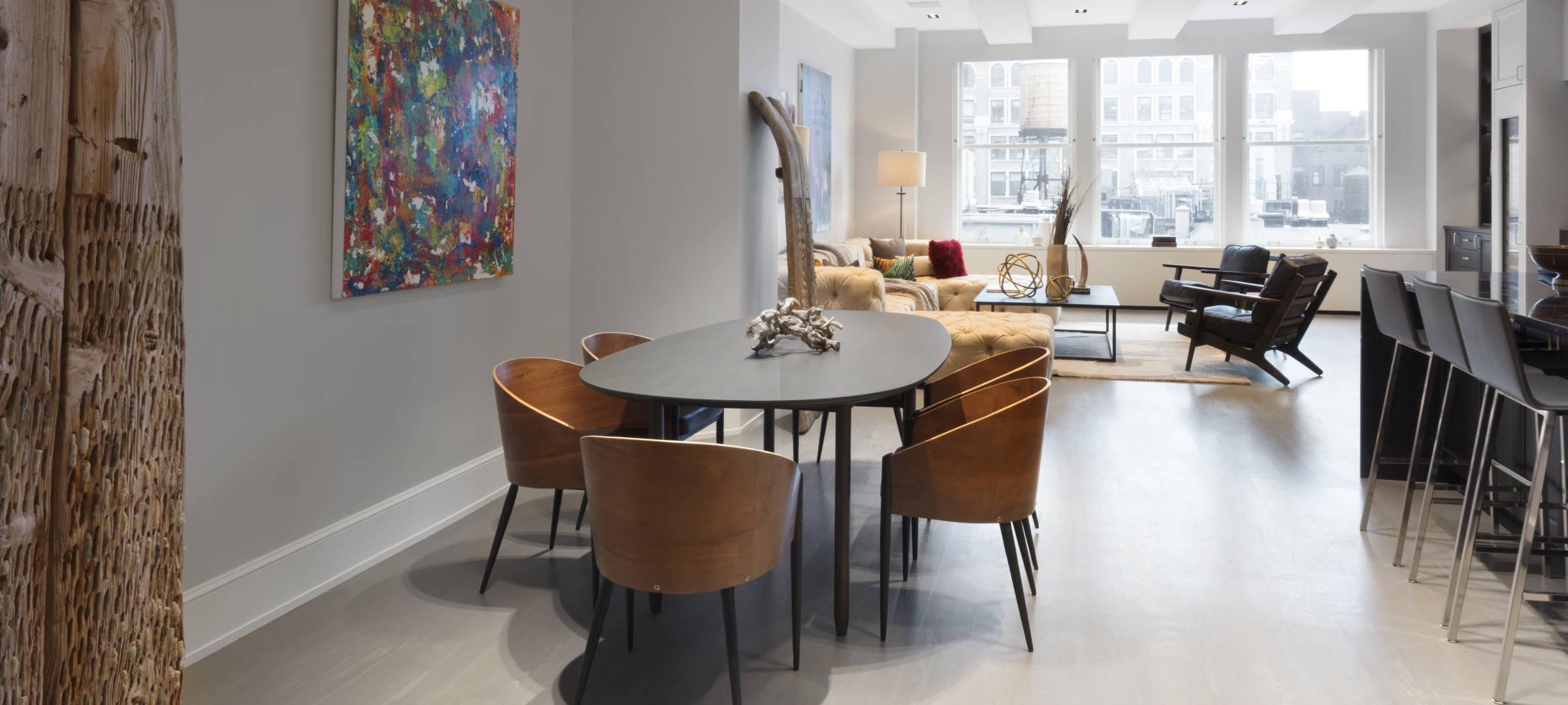 SBSG Interior Design Living Room 260 Park Avenue South, NY