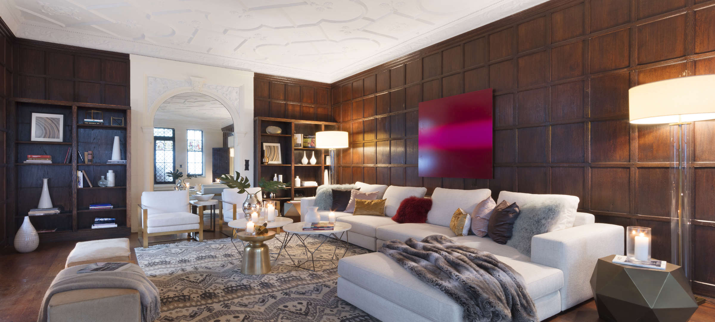 SBSG Interior Design Living Room 91 Central Park West, NY